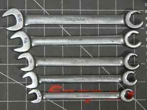 Snap On 5pc Sae Flare Nut Combination Line Wrench Set 3 8 5 8 Rxs Rxs12 Rxs20