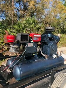 Air Compressor 140 Cfm 25hp Diesel Engine With Trailer