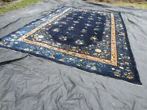 Antique Chinese Deco Rug Large 210 X 136 17 Ft By 11 4 Ft Nice