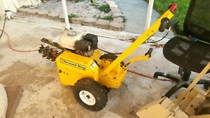 Ground Hog 18 T 4 hs13 Gas Trencher W Commercial Honda Engine guaranteed