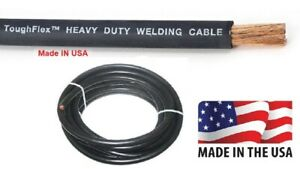Welding Cable 1 Awg 50ft Black Welding Cable Battery Cable 600v Us Made