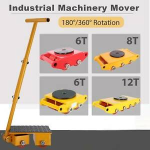 6ton 13200lb 8t 12t Industrial Machinery Mover Dolly Skate Roller W 180 360