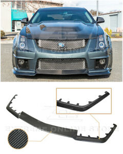 For 09 15 Cadillac Cts V Carbon Fiber Package Front Bumper Lower Lip Splitter