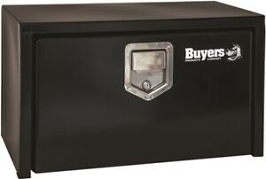 Buyers Products 14 X 12 X 24 Black Underbody Truck Tool Boxes Steel With Paddle