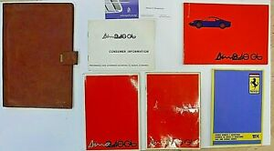 Ferrari Dino 246 Gt Gts 1974 Complete Handbooks And Pouch Excellent