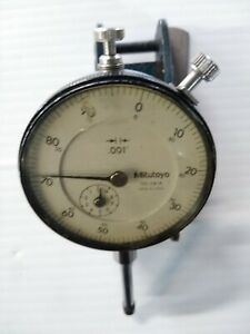 Mitutoyo 2416 Dial Indicator 001 Japan With Magnetic Clamp