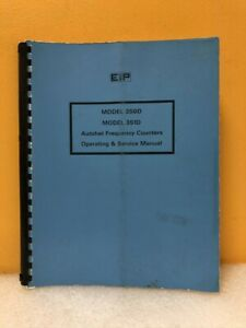 Eip 5580001 350d 351d Autohet Frequency Counters Operating Service Manual