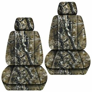 Front Set Car Seat Covers Fits Jeep Grand Cherokee 1999 2020 Camo Woods
