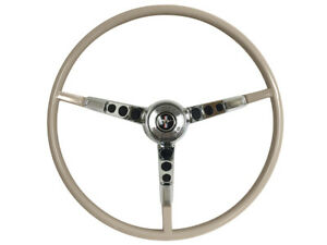 1965 66 Ford Mustang Steering Wheel Kit W horn Ring Spring Parchment