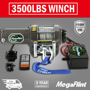 New 3500 Lbs Electric Trailer Recovery Winch Atv boat truck car 12v Input 1 5 Hp