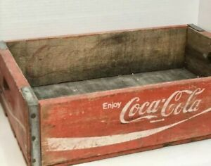Vintage Original Coca Cola Wooden Crate Bottle Carrier Coke Soda Pop
