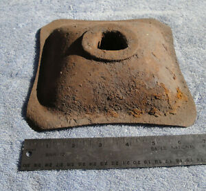 1946 1948 1949 1951 Ford Mopar Gm Orig Bumper Jack Base Plate 7 Square