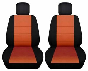 Front Set Car Seat Covers Fits Chevy Cruze 2011 2019 Black And Burnt Orange