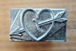 Kingsley Heart With Arrow 18 Point Die Body for Hot Foil Stamping Machine