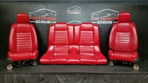 2005 Mustang Driver Lh Passenger Rh Front Rear Power Leather Seat Set