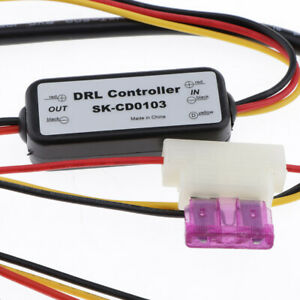 Car Led Daytime Running Light Relay Harness Dimmer Auto Drl Controller