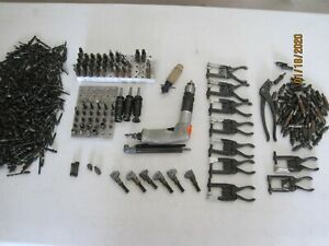 Huge Lot Dotco Drill Aviation Sheetmetal Tools Collet Bits Clamps And Clecos