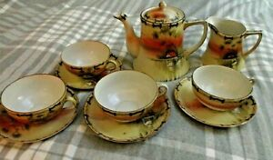 Antique Tea Set Nippon Hand Painted Great Shape Extremely Old So Beautiful