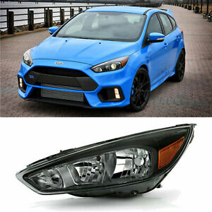For 2015 2018 Ford Focus Halogen Headlight Replacement Left Dirver Side Assembly