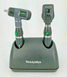 Welch Allyn Lithium Ion Charger Set 71641 ms Macroview Otoscope Ophthalmoscope