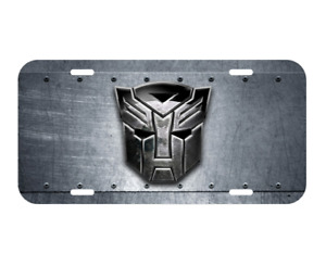 Transformers Vehicle License Plate Autobots Decepticons Robots In Disguise New