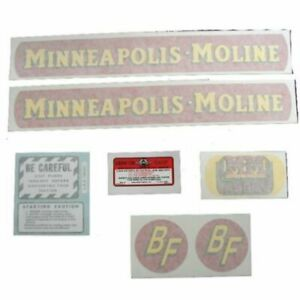 Fits Minneapolis Moline Tractor s Bf avery Small Size Gold Tractor R aver