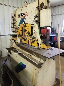 Geka Hydracrop 110 a 120 Ton Ironworker Year 2000 Tooling Included