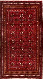 Vintage Geometric Balouch Nomad Oriental Area Rug Hand Knotted Tribal Carpet 4x8