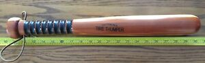 Tire Thumper Cedar Wood Leather Strap Grooved Handle Semi Truck Tool Air 18 00