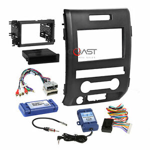 Car Radio Stereo Dash Kit Amplified Swc Steering Harness For 2009 10 Ford F 150
