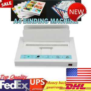 Hot Melt Thermal Binding Machine For A4 Paper Sheet Electric Desktop Binder 110v