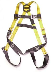5 point Fall Protection Warehouse roofers construction Safety Harness Yellow