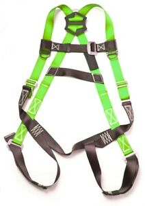 Fall Protection Harness Ring Full Body Ansi Osha Roofers Construction Green