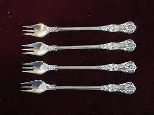Set Of 4 Tiffany Co Sterling English King 6 Inch Oyster Forks Mono B