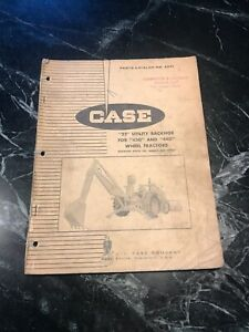 Case 430 Tractor 22 Backhoe Parts Service Repair Manual Rare Vtg 1962 Catalog