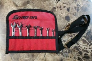 Snap On Oxim707sbk Metric 7pc Midget Flank Drive Combination Wrench Set 4 9mm