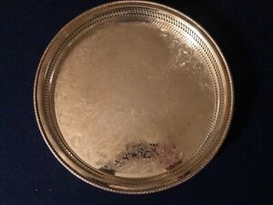 Vintage Wm Rogers Silver Plate Serving Tray 15 Inch Round