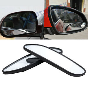 Car Rearview Mirror Blind Spot Side Convex View Wide Angle Van Adjustable 360