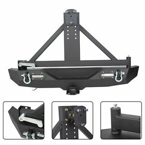 Textured Rear Bumper Tire Carrier Hitch Receiver For Jeep Wrangler Jk 07 18