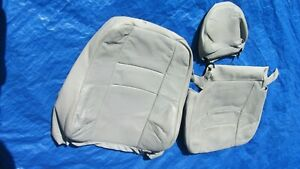 99 00 Volvo S70 V70 Lite Beige Driver Left Side Leather Seat Cover Set Of 3