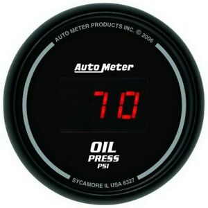 Auto Meter Black 0 100 Psi Digital Oil Pressure Gauge