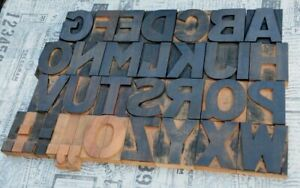 A z Alphabet 3 54 Letterpress Wooden Printing Blocks Wood Type Vintage Print