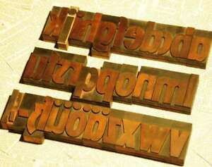 A z Alphabet 2 83 Letterpress Wooden Printing Blocks Wood Type Vintage Printer