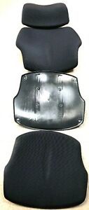 Cushions For Humanscale Freedom Chair Seat Back Headrest Foam Black Fabric
