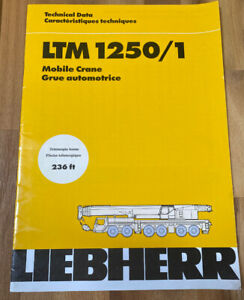 Liebherr Ltm 1250 1 Mobile Crane Technical Data Telescopic Boom 236 Feet Manual