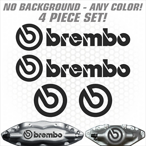 4pc Brembo Brake Caliper High Temp Sticker Decal Logo Sti Evo Set Jdm Round Rear