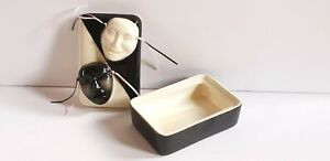 Comedy Tragedy Masks Art Deco Ceramic Box With Lid By Ronnie S Ceramic Usa 1987