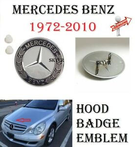 Genuine Hood Badge Emblem With Grommets For Mercedes Sl sec c cl clk cls e g s r