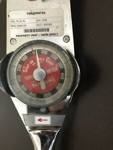 Snap on 1 2 Drive Torqometer wrench Te51fu 0 600 Inch pounds Torque