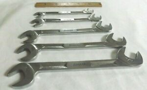 Snap On 5 piece Open End 4 way Angle Head Wrench Set 3 8 To 11 16